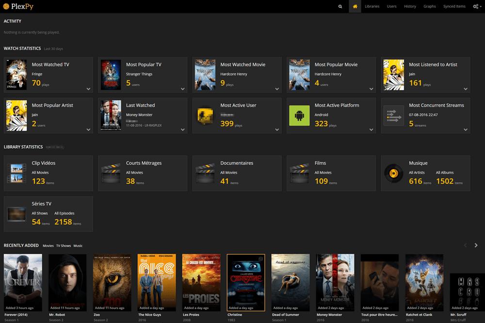 PlexPy-Homepage